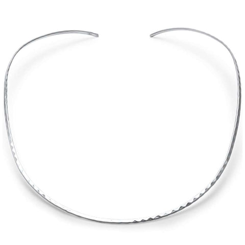 2mm Diamond Cut Collar Choker .925 Sterling Silver Necklace