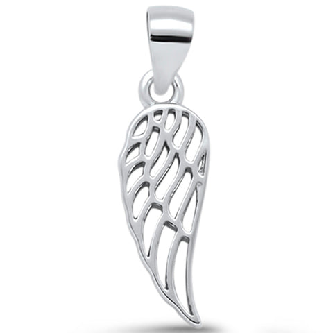Plain Angel Wing .925 Sterling Silver Pendant