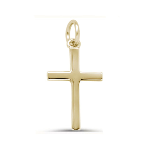Yellow Gold Plated Mini Cross .925 Sterling Silver Pendant