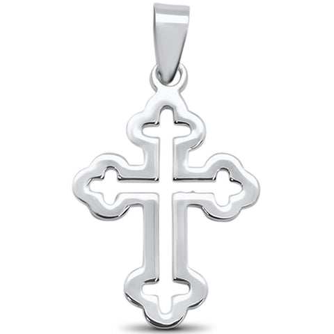 Plain Cross Design .925 Sterling Silver Pendant
