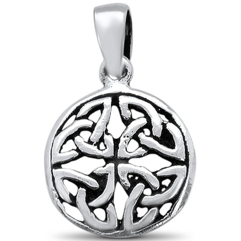 Plain Filigree Design Charm .925 Sterling Silver Pendant