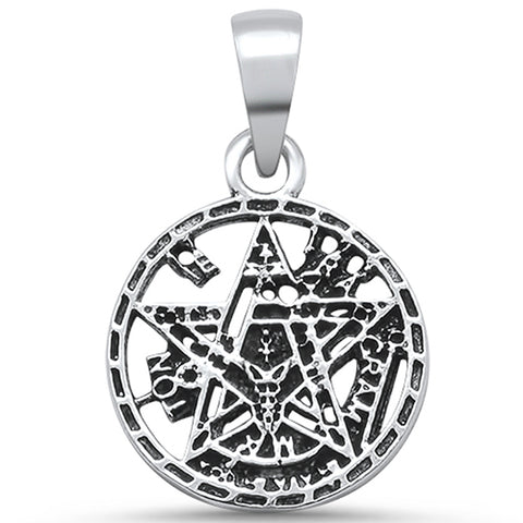 Plain Pentagram Design .925 Sterling Silver Pendant