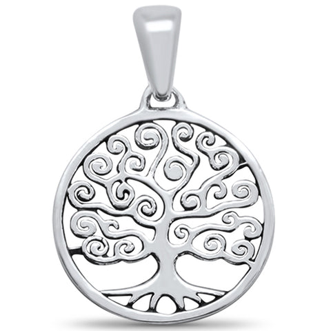 Plain Tree of Life .925 Sterling Silver Pendant