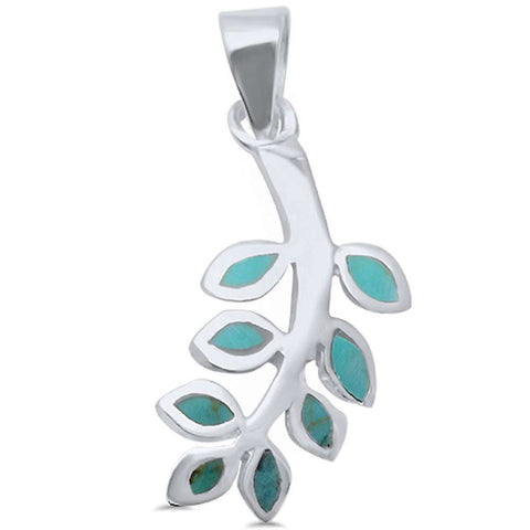 Wholesale Silver- Abalone Shell Olive Branch Friendship .925 Sterling Silver Pendant