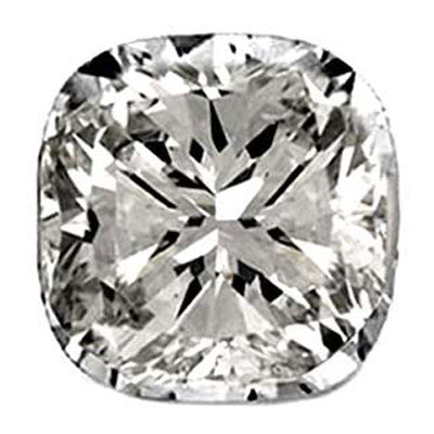 1.01CT I VS2 EGL CERTIFIED SQUARE CUSHION CUT DIAMOND