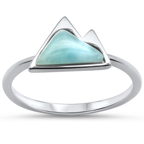 Mountain Natural Larimar .925 Sterling Silver Ring Sizes 5-10