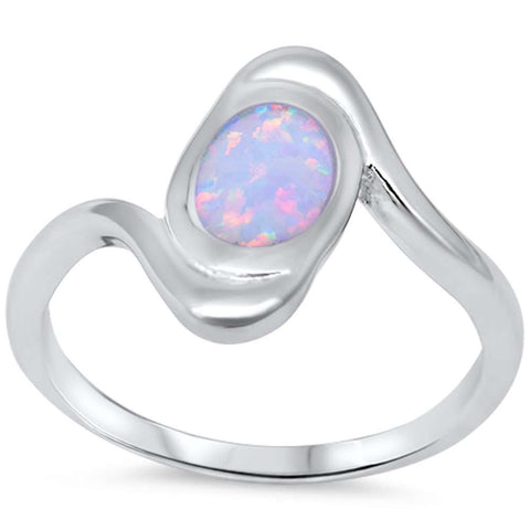 White Fire Opal .925 Sterling Silver Ring sizes 6-9