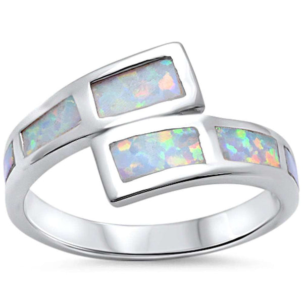 New Design White Opal Fashion .925 Sterling Silver Ring Sizes 5-10