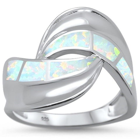New Design White Opal .925 Sterling Silver Ring Sizes 6-8