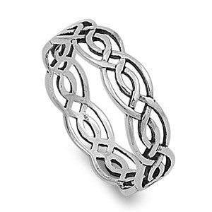 Celtic .925 Sterling Silver Ring Sizes 4-12