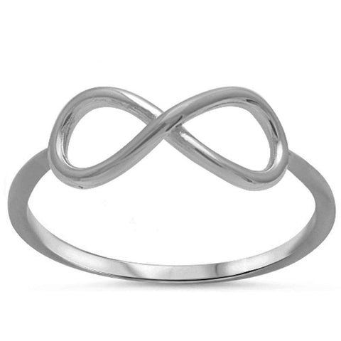 Plain Infintiy .925 Sterling Silver Ring Sizes 2-10