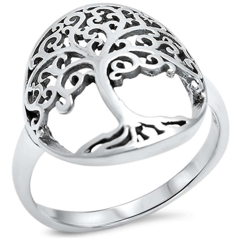 Tree of life .925 Sterling Silver Ring Sizes 6-9