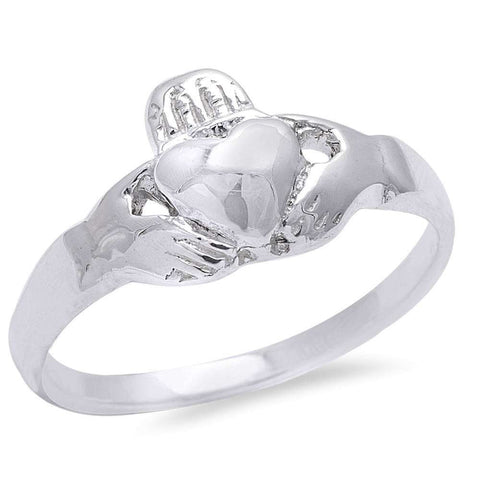 Irish Claddagh Heart .925 Sterling Silver Ring Sizes 5-10
