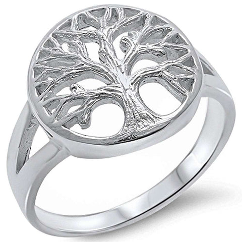 Tree of life .925 Sterling Silver Ring Sizes 5-10