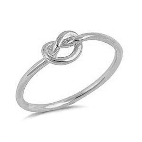 Infinity Love Heart Knot .925 Sterling Silver Ring Sizes 2-13