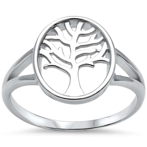 Plain Tree of Life .925 Sterling Silver Ring Sizes 5-10