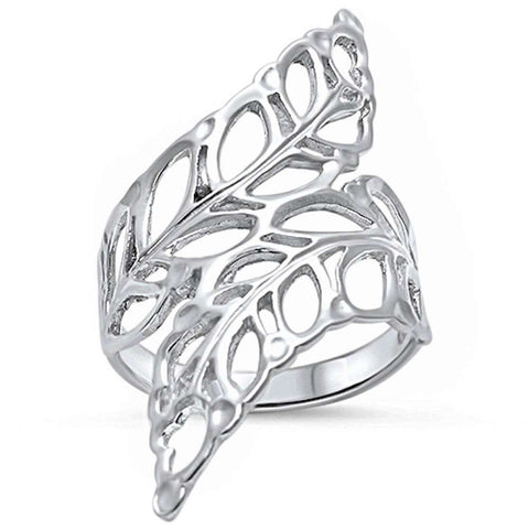 <span>CLOSEOUT!</span> Plain Leaf .925 Sterling Silver Ring Sizes 5-10