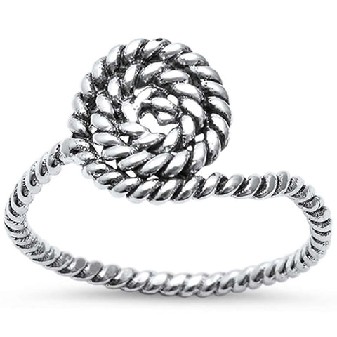 Swirl Braided Ring .925 Sterling Silver Ring Sizes 5-11