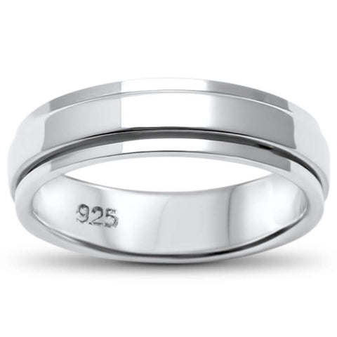 Plain Bali Band .925 Sterling Silver Ring Sizes 8-11