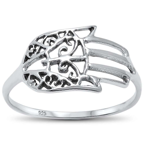 Kabbalah Hand of God  .925 Sterling Silver Ring Sizes 5-10