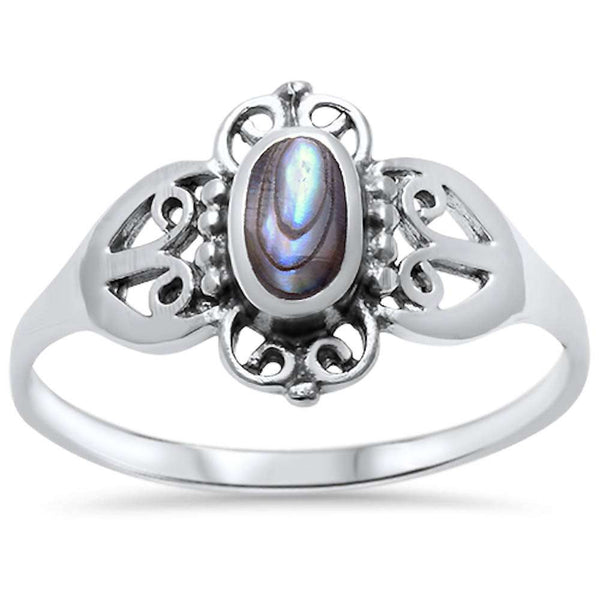 Wholesale Silver- Abalone Shell .925 Sterling Silver Ring Sizes 5-9