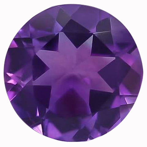 Click to view Round Brilliant Cut Amethyst Loose Gemstones variation