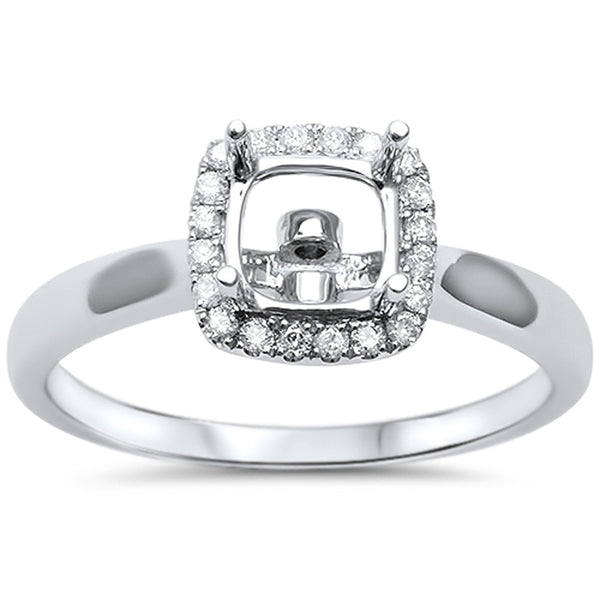 .15cts F-VS2 Princess Cut Diamond Semi Mount Engagement Ring Size 6.5
