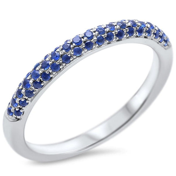 .32ct Blue Sapphire 14kt White Gold Band