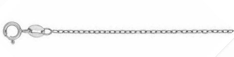 "040-3MM Cable Chain .925  Solid Sterling Silver Available in 16""- 24"" inches"