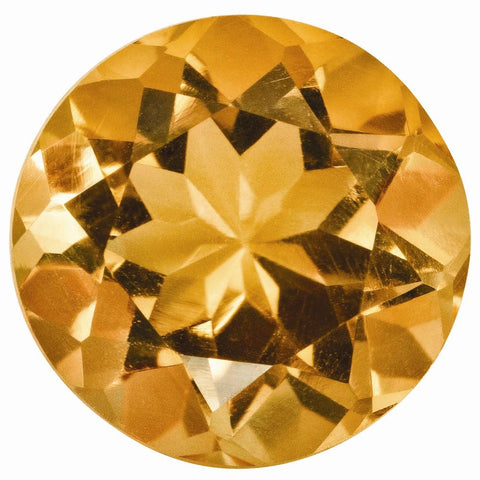 Click to view Round Brilliant Cut Citrine Loose Gemstones variation