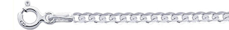 050-3MM Flat Curb Chain .925  Solid Sterling Silver Sizes 16-20""