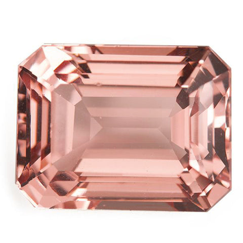 Click to view Emerald Cut morganite loose Gemstones variation