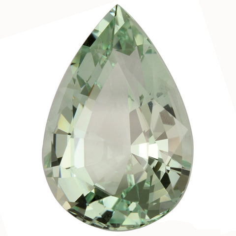 Click to view Pear Shape Green Amethyst Loose Gemstones variation