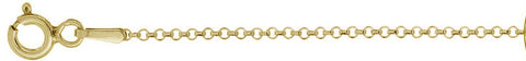"040-3MM Yellow Gold Plated Rolo Chain .925  Solid Sterling Silver Available in 16""- 20"" inches"