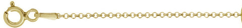 "020-1.8MM Yellow Gold Plated Rolo Chain .925  Solid Sterling Silver Available in 16""- 22"" inches"