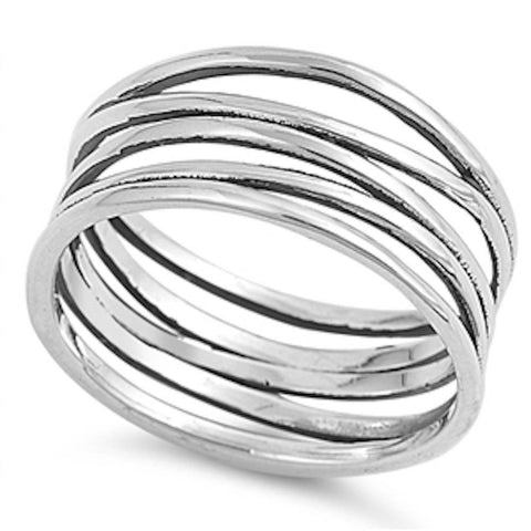 <span>CLOSEOUT!</span> Solid Modern Celtic Band .925 Sterling Silver Ring Sizes 5-10