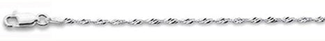 025-1.6MM Singapore Chain .925  Solid Sterling Silver Sizes 16-30""