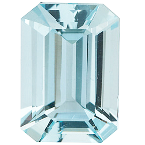 Click to view Emerald Cut Aquamarine loose Gemstones variation