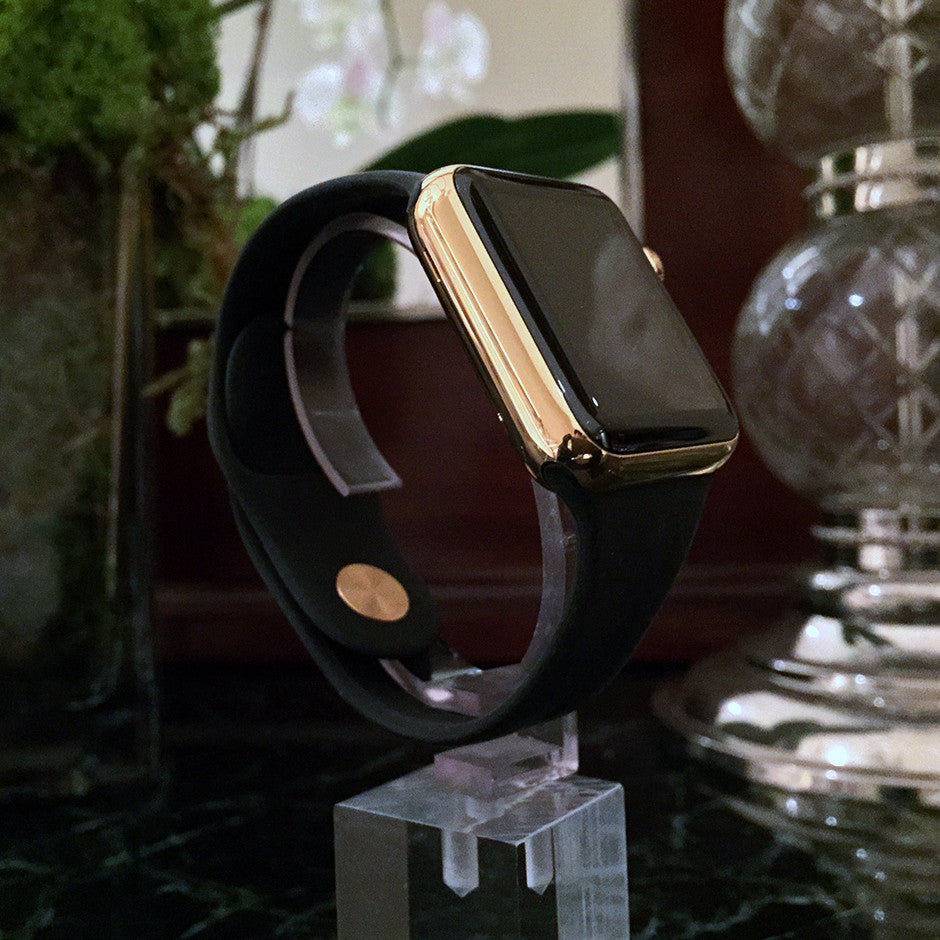 GOLD PLATED APPLE WATCH WITH STANDARD STRAPS