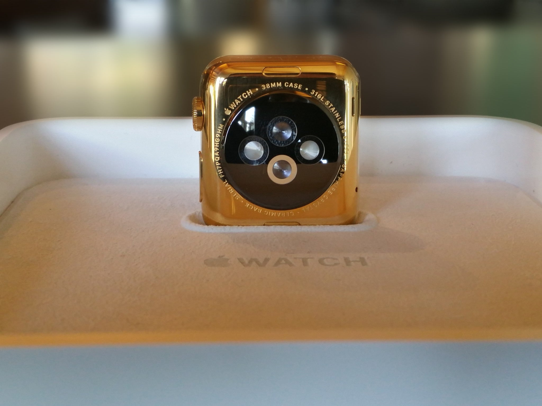 Custom Apple Watch Gold Plating