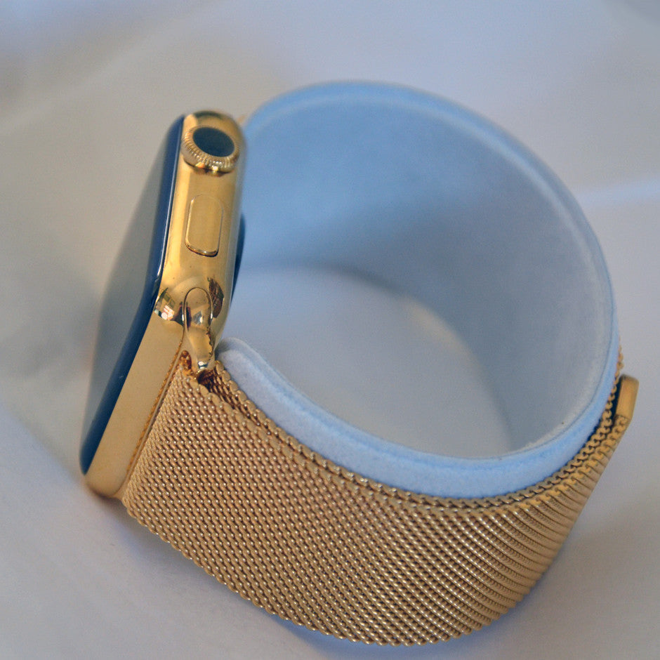 GOLD PLATED APPLE WATCH WITH LUXURY STRAPS