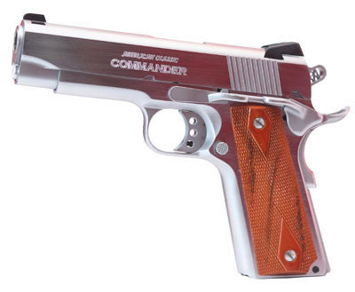 "American Classic COMMANDER 1911 45ACP HD CHROME - ACC45C - Hard Chrome 45 ACP 4.25"" 8 + 1"