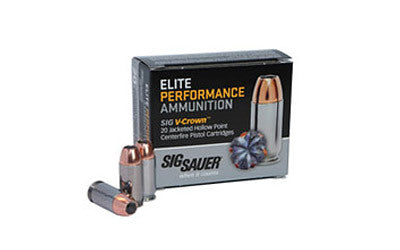 Sig Sauer Elite Performance V-Crown - E9MMA3-20 -  9MM