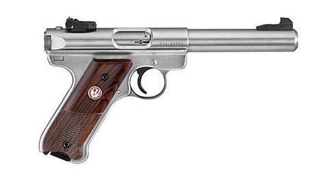 "Ruger MK III 22LR USA SHOOTING TEAM - 10161 - Stainless 22 LR 5.5"" 10+1"