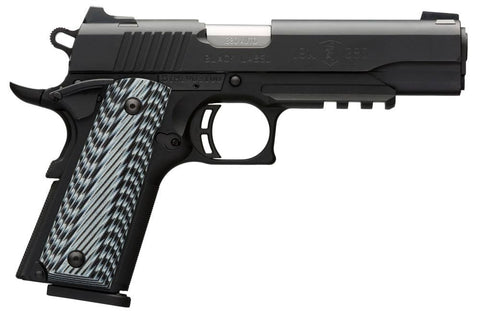 "Browning 1911-380 380ACP BLK RAIL NS - 051907492 - Matte Black 380 ACP 4.25"" 8+1"