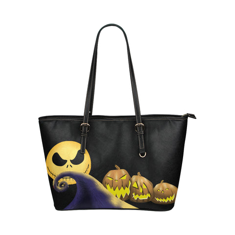 Nightmare Before Christmas Leather Tote Bag
