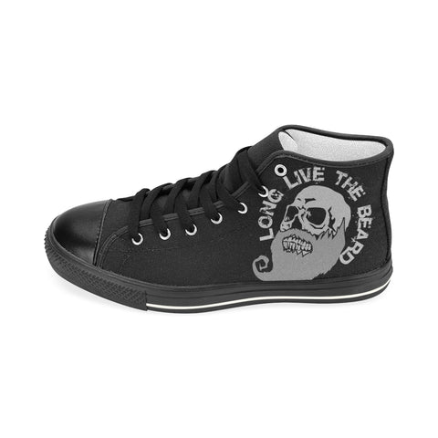 Beards on Black MS Aquila High Top Men's Canvas Shoes(Model017)