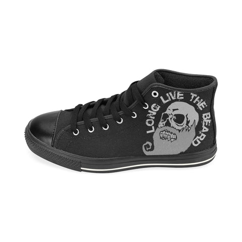 Beards on Black ML Aquila High Top Men's Canvas Shoes(Model017)(Large Size)