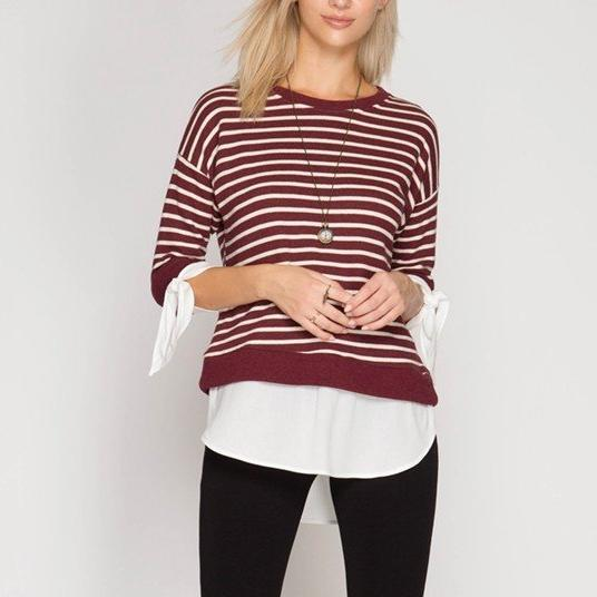 French Terry Contrast Pullover