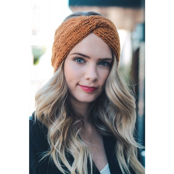 Twist Crochet Headband